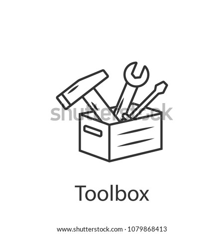 Toolbox vector icon icon. Simple element illustration. Toolbox vector icon symbol design from Construction collection set. Can be used in web and mobile on white background