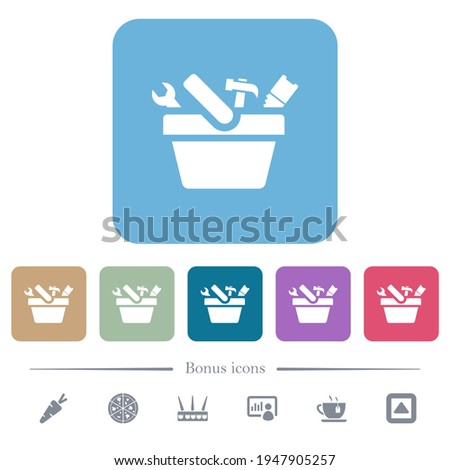 toolbox white flat icons on