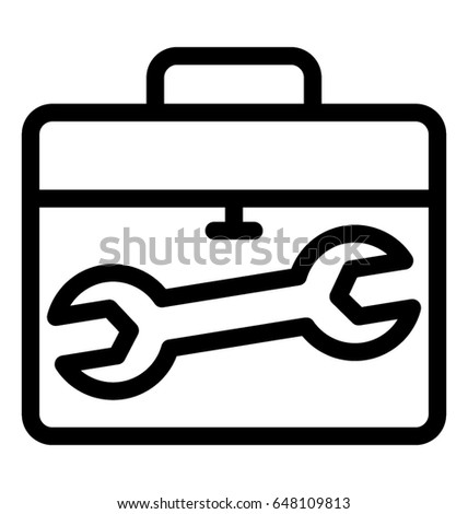 Toolkit Line Vector Icon