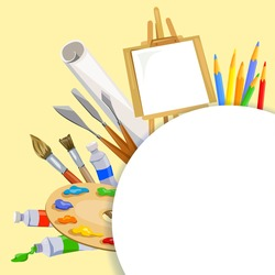 tools artist background. vector illustration