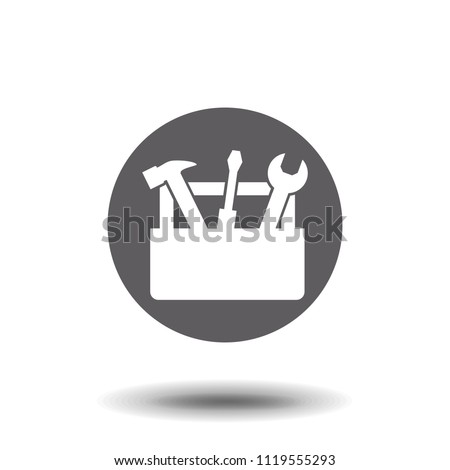 Tools Box icon. concept web buttons. vector illustration. Flat design style