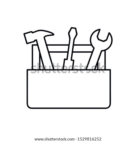 Tools Box line icon. concept web buttons. vector illustration. Outline design style Foto stock ©