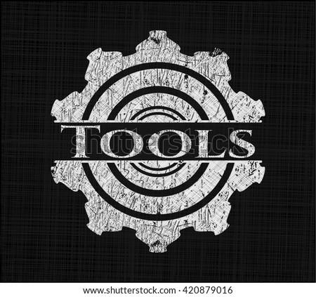 Tools chalk emblem