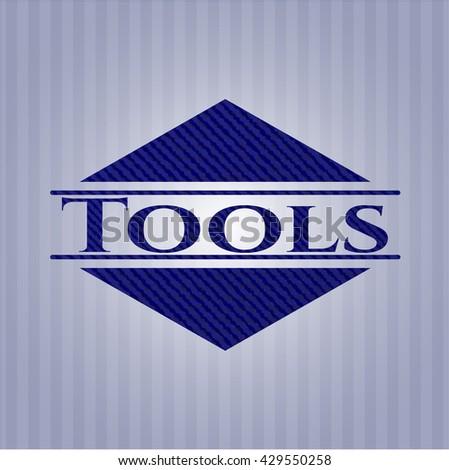 Tools denim background