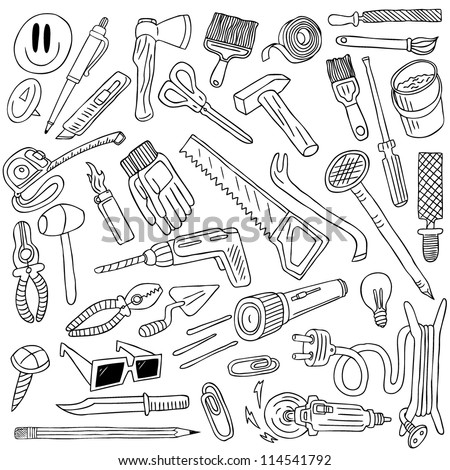 tools doodles collection