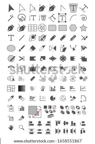 Tools icon for designer or illustrator to make artwork design or illustration
