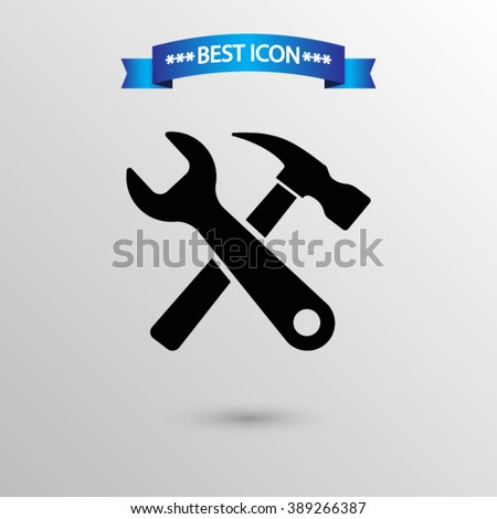 Tools  icon vector eps 10 icon, Tools vector icon for web i mobile,  Tools vector icon on gray background