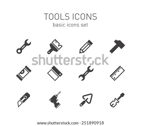 Tools icons set.