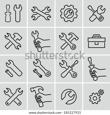 Tools icons. Strokes not expanded. Outlines not converted to objects.