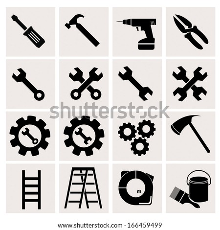 Tools icons with White Background