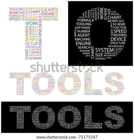 TOOLS. Illustration with different association terms.