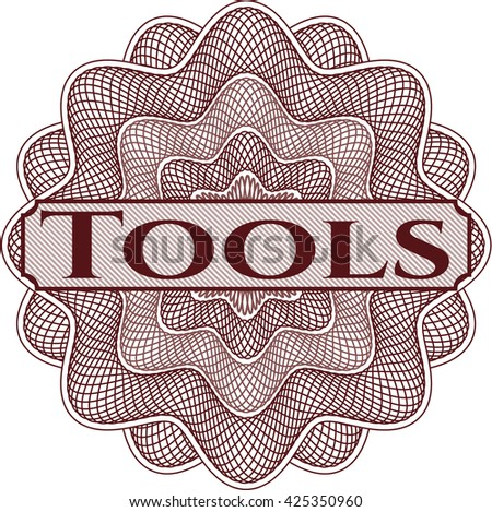 Tools inside a money style rosette