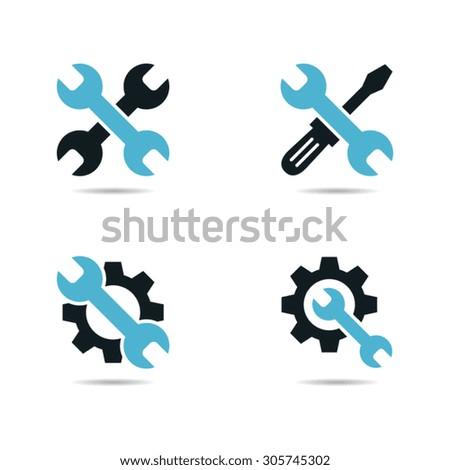 Tools Settings or Repair Icons