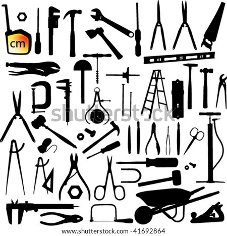 clip art hand tools black construction tools vector silhouette icons download free