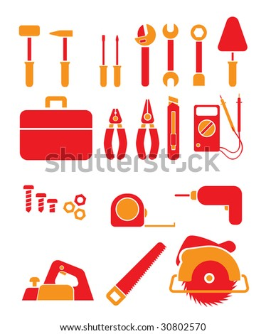 Tools. Vector icon. - stock vector