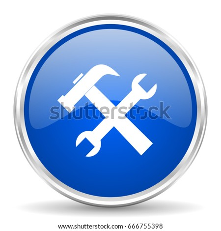 tools vector icon chrome
