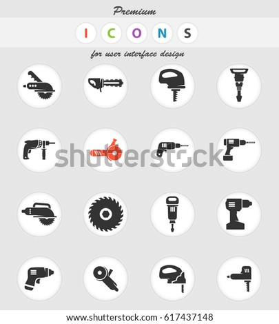 tools vector icons for user interface design