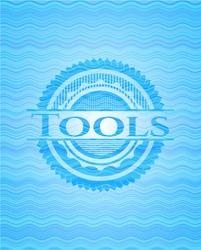 Tools water wave emblem background.