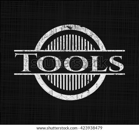 Tools with chalkboard texture