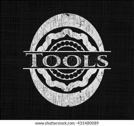 Tools written on a blackboard