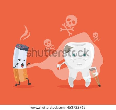 tooth and cigarette characters