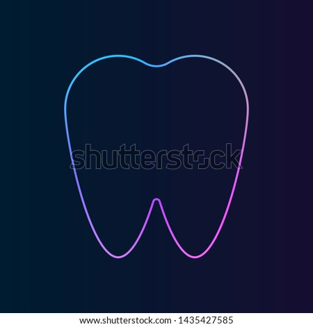 tooth, claw, fang, prong, dent nolan icon. Simple thin line, outline vector of Medicine icons for UI and UX, website or mobile application