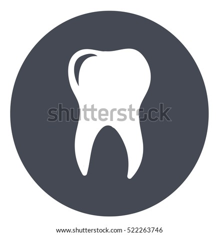 Tooth icon dental care symbol graphic design element vector stock