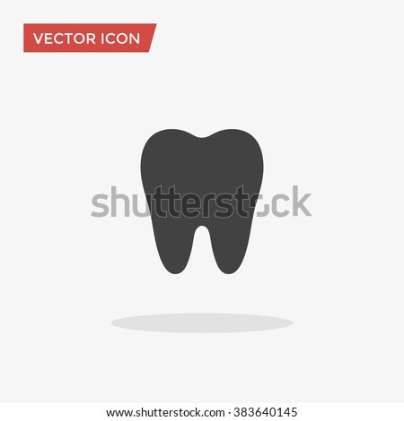 tooth icon in trendy flat style