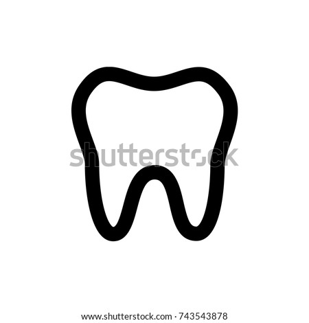 tooth icon, tooth icon vector, in trendy flat style isolated on white background. tooth icon image, tooth icon illustration