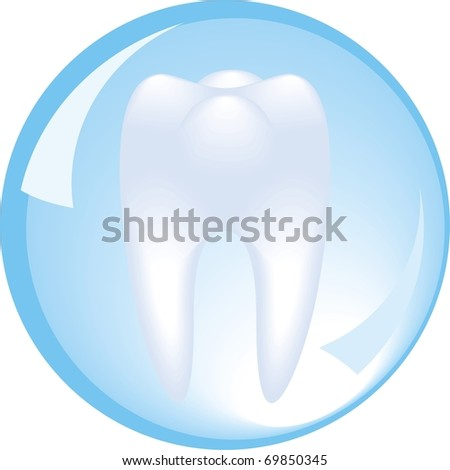 tooth is protected by a glass sphere, dentistry