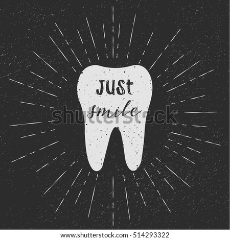 tooth just smile vector