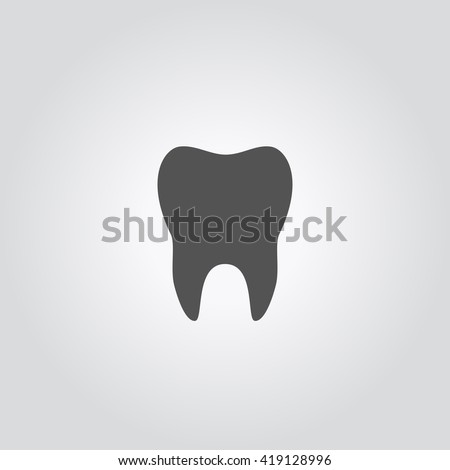 Tooth vector silhouette. Tooth Icon Vector.  Tooth Icon Image. Tooth Icon logo. Tooth Icon Sign. Tooth Icon Flat. Tooth Icon design.