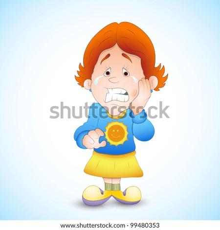Картинка ребенка с больными зубами