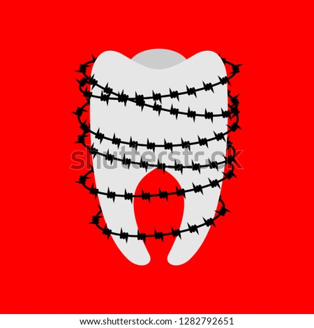toothache tooth and barbed