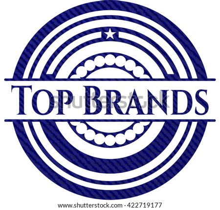 Top Brands denim background