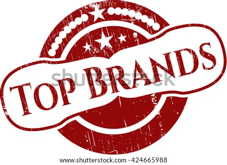 Top Brands grunge seal