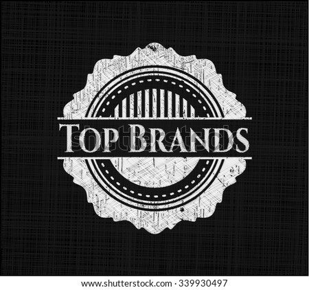Top Brands with chalkboard texture
