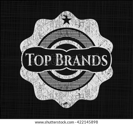 Top Brands written with chalkboard texture