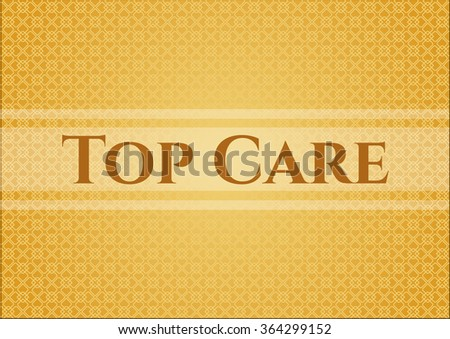 Top Care card or banner