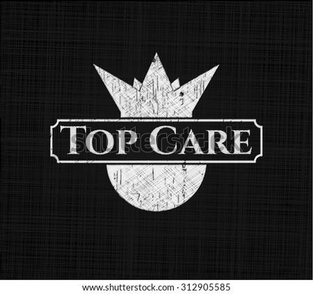 Top Care chalk emblem