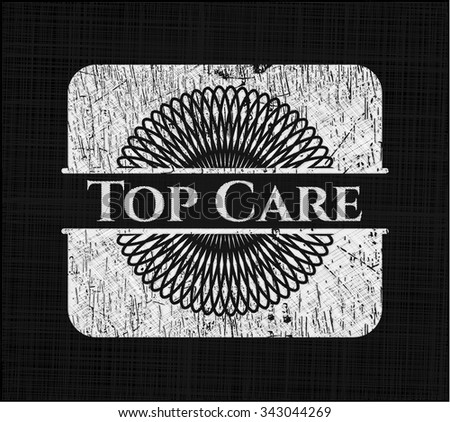 Top Care chalkboard emblem