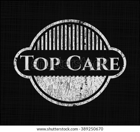 Top Care chalkboard emblem
