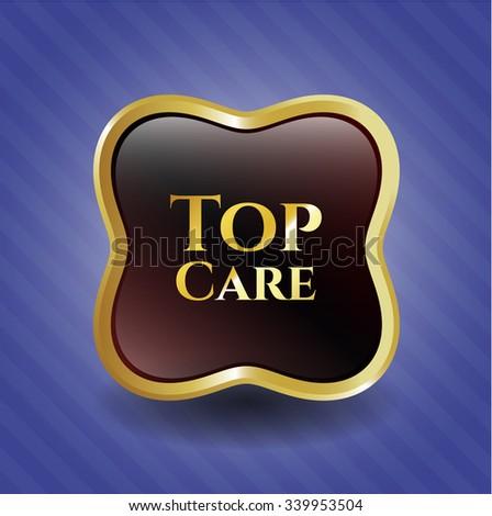 Top Care gold badge or emblem