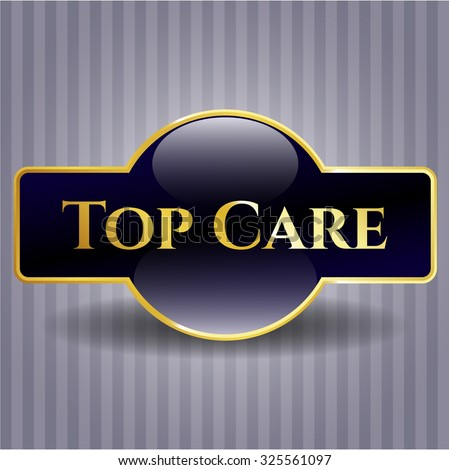Top Care gold shiny badge