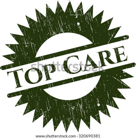 Top Care rubber grunge stamp