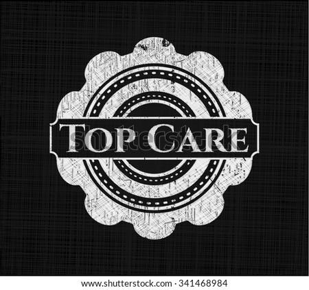 Top Care written on a chalkboard