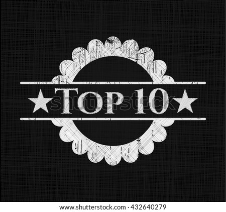 Top 10 chalkboard emblem on black board