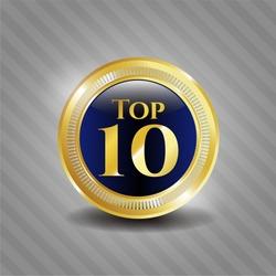 Top 10 gold emblem or badge