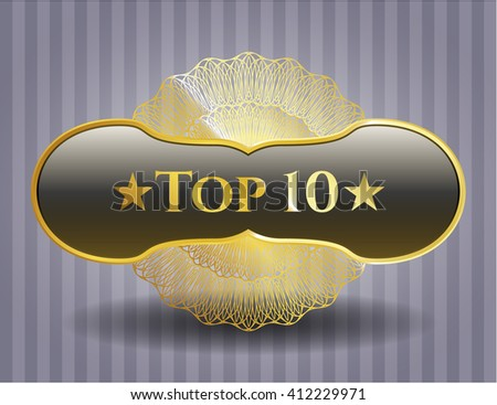 Top 10 golden emblem or badge