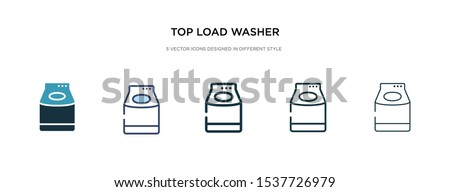 top load washer icon in